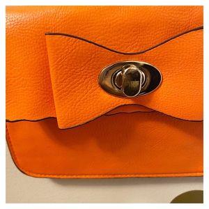 Handbags - Vegan Leather Mini Crossbody Bag with Bow Detail